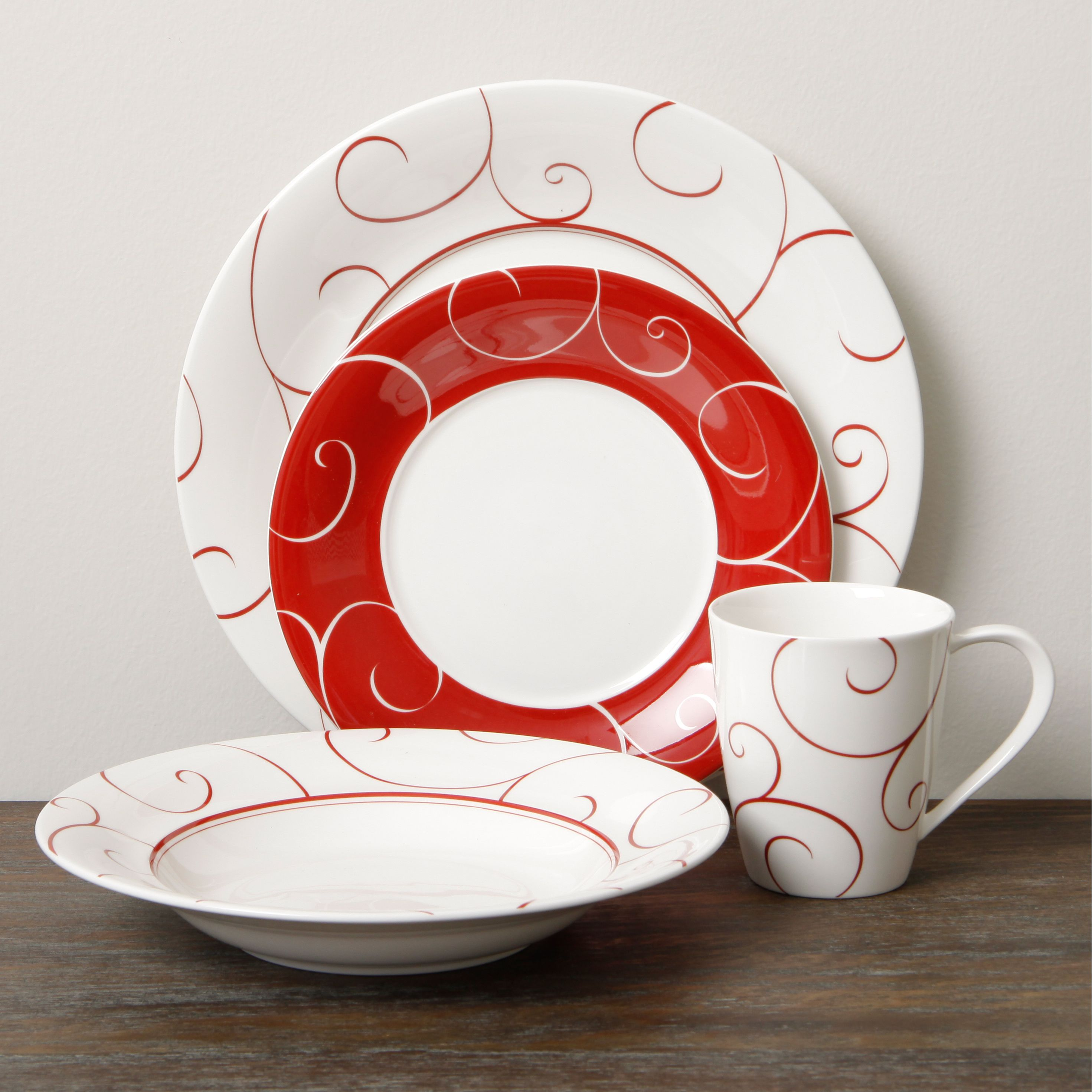 House · The Red Vanilla ... & The Red Vanilla Panache Rouge 16-piece dinner set is both durable ...
