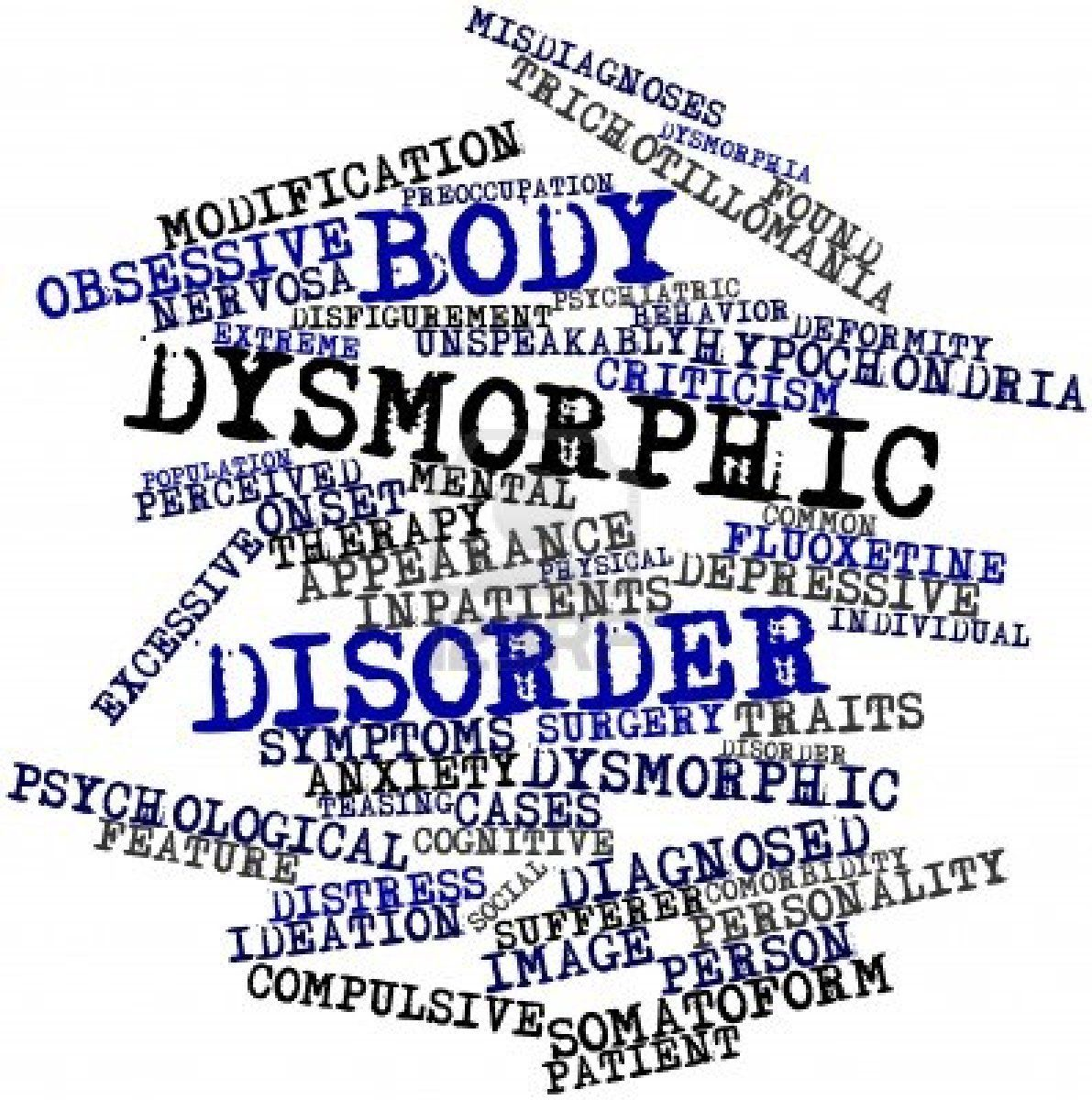 body dysmorphic disorder Body dysmorphic disorder should be diagnosed in depressed individuals if diagnostic criteria for body dysmorphic disorder is met anxiety disorders social anxiety and avoidance are common in body dysmorphic disorder.