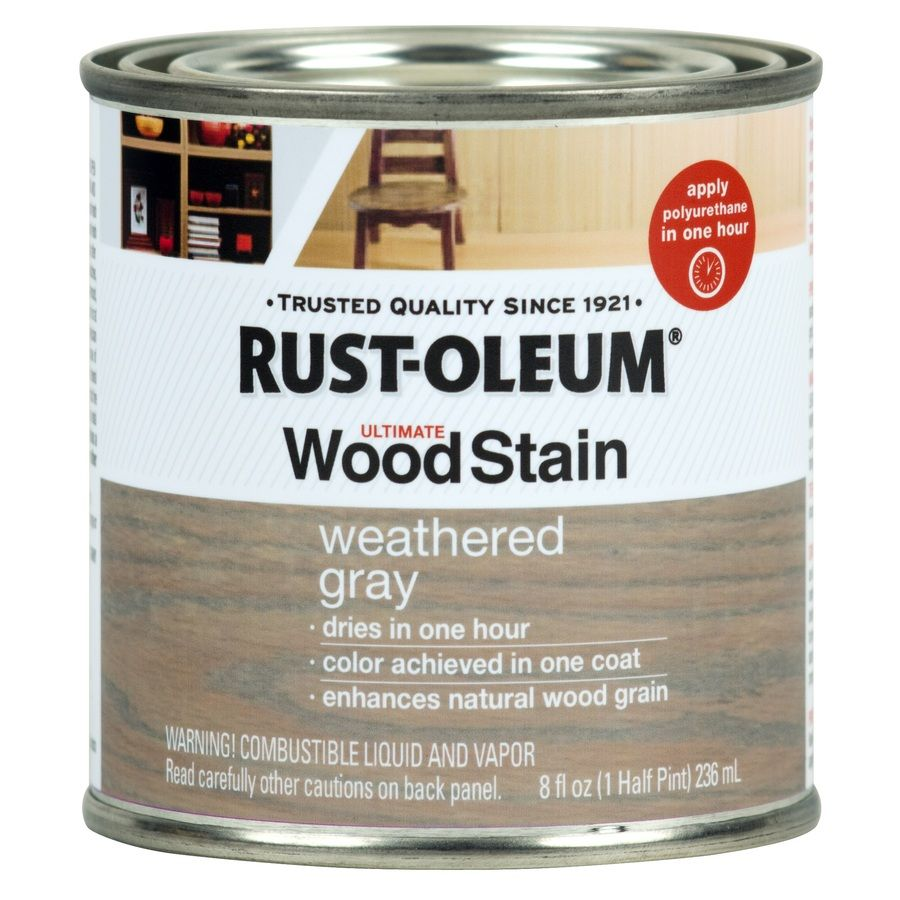 Rust-Oleum Ultimate Wood Stain 8-fl oz Weathered Grey Oil-Based ...