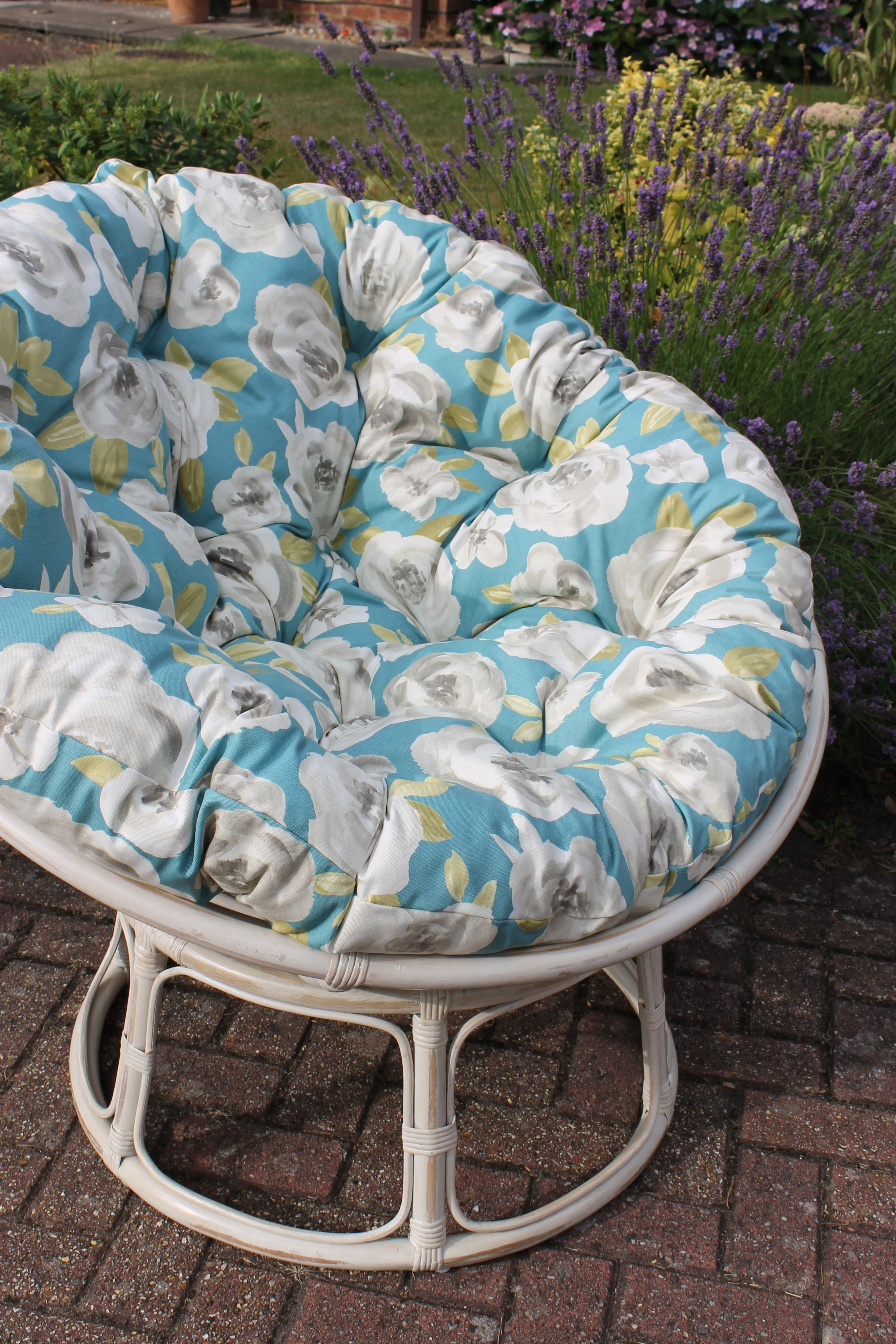 Papasan Sessel Alu Stunning Floral Papasan Chair Finished In Elodie Material