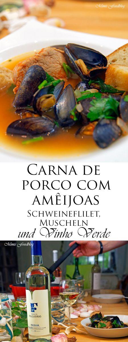 Carna de porco com amêijoas ist ein typisch portugiesisches Gericht mit Schweinefleisch, Muscheln und Vinho Verde. Leicht, lecker und perfekt im Sommer.