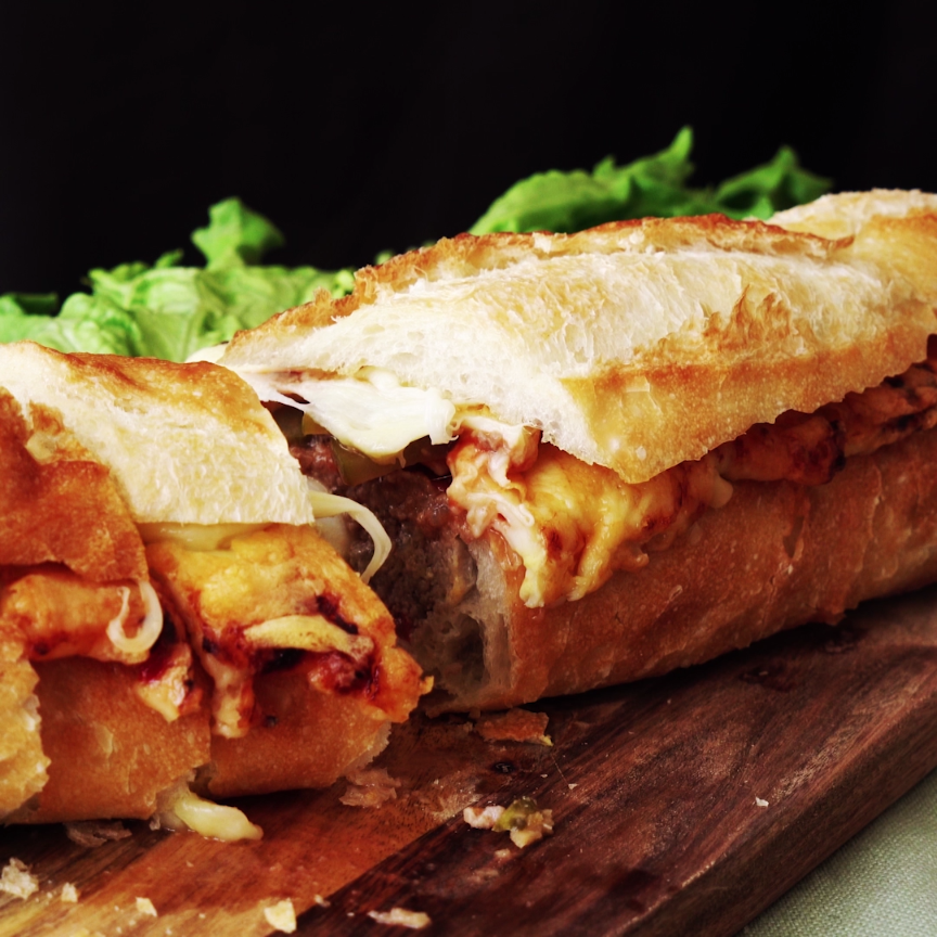 pizza baguette recept