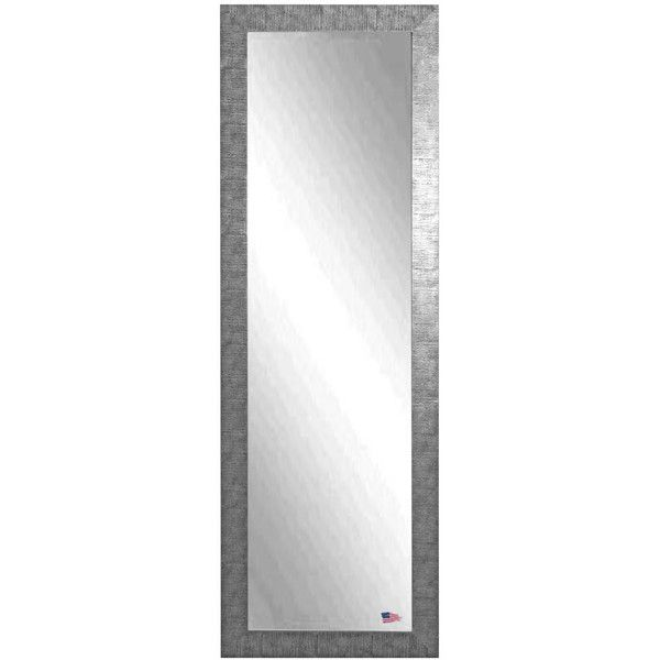 American Made Rayne Silver Grain 24 x 62-inch Full Body Mirror ($304) ❤ liked on Polyvore featuring home, home decor, mirrors, black, safari home decor, silver framed mirror, rectangular mirrors, silver home accessories and horizontal mirror