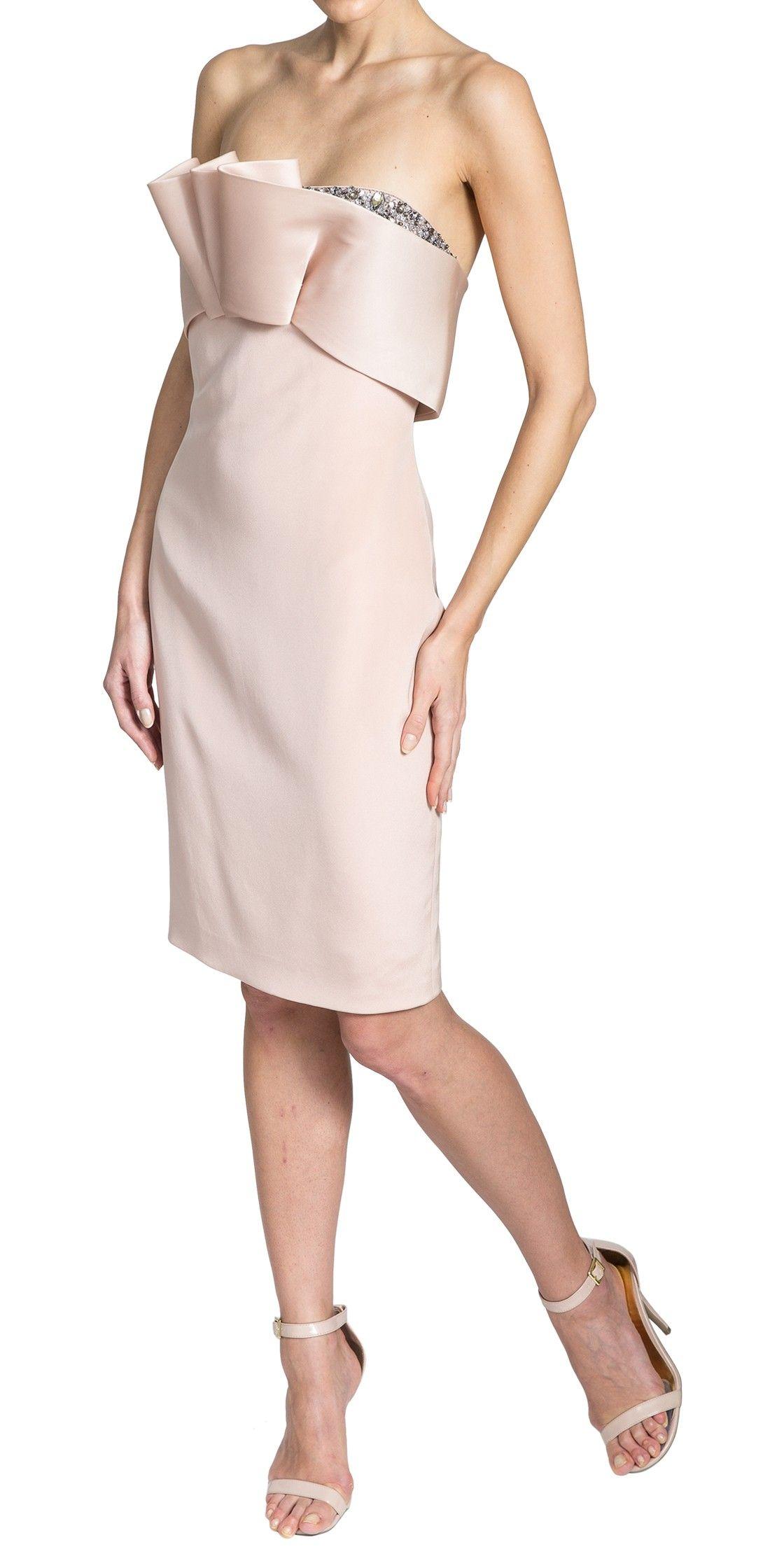 Marchesa Notte strapless silk-georgette dress | Cocktail Dresses ...