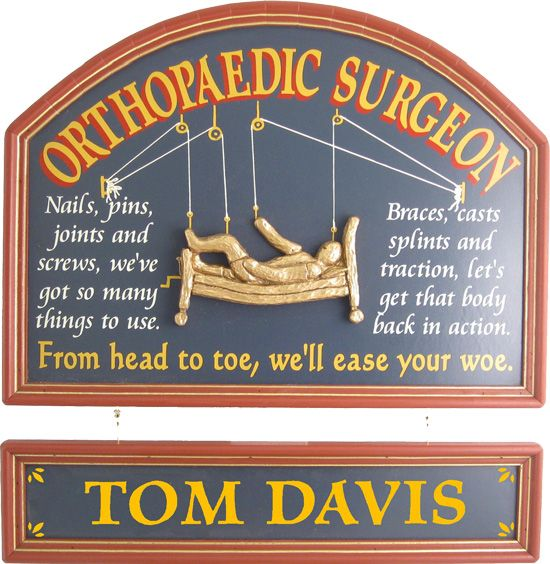 Northwest Gifts - Orthopaedic Surgeon Gift Sign with Nameboard. Hundreds of old-fashioned, personalized signs available at www.northwestgifts.com