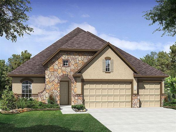 Ryland Homes Washington B of the Estates at Turning Stone community in Cibolo, TX.