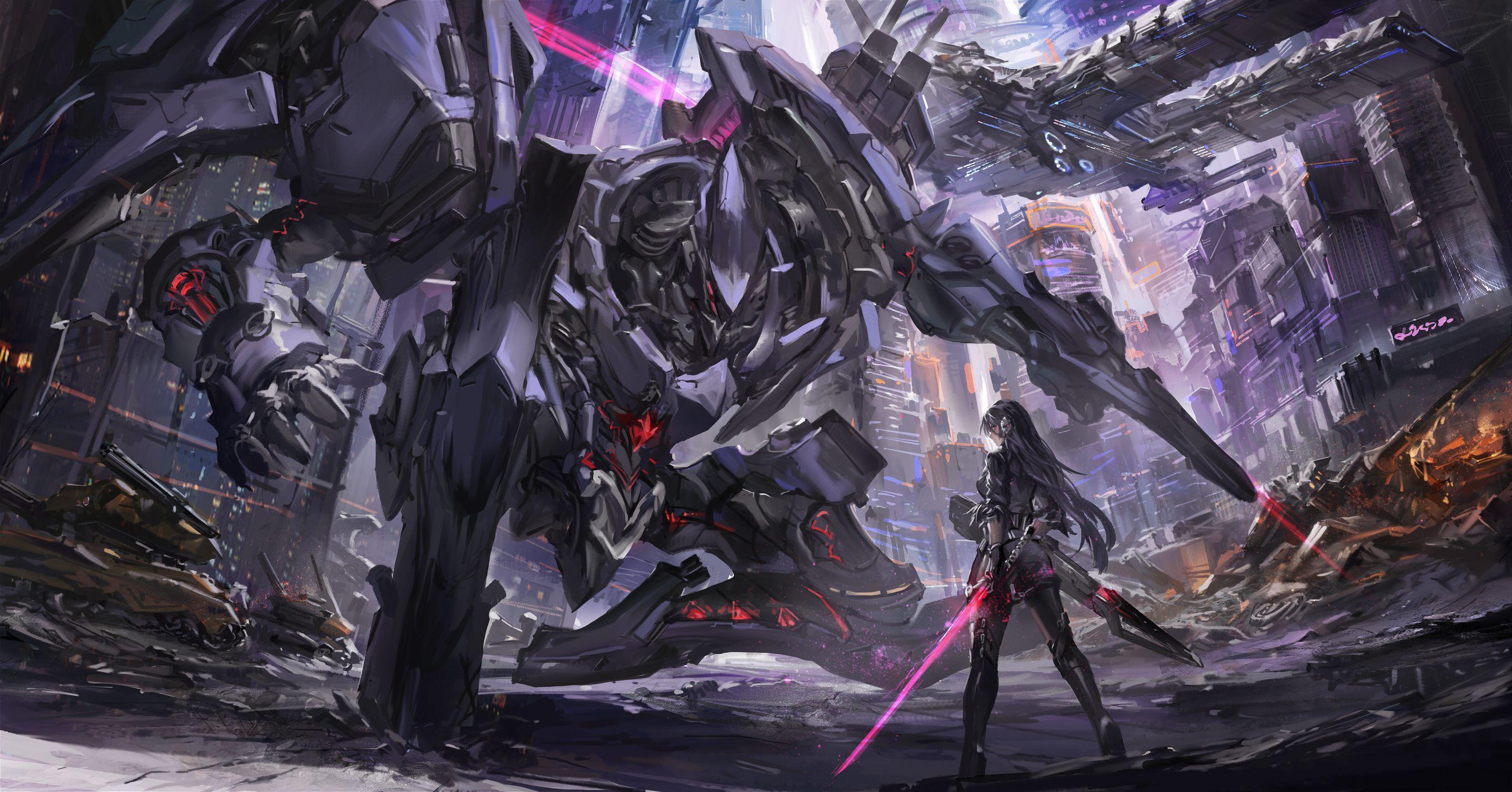 Anime Sci Fi Wallpapers Top Free Anime Sci Fi Backgrounds Wallpaperaccess Robot Wallpaper Mecha Sci Fi Wallpaper