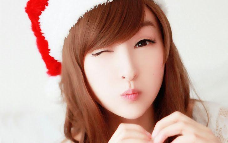 beautiful cute asian korean girl pose hd wallpaper wink