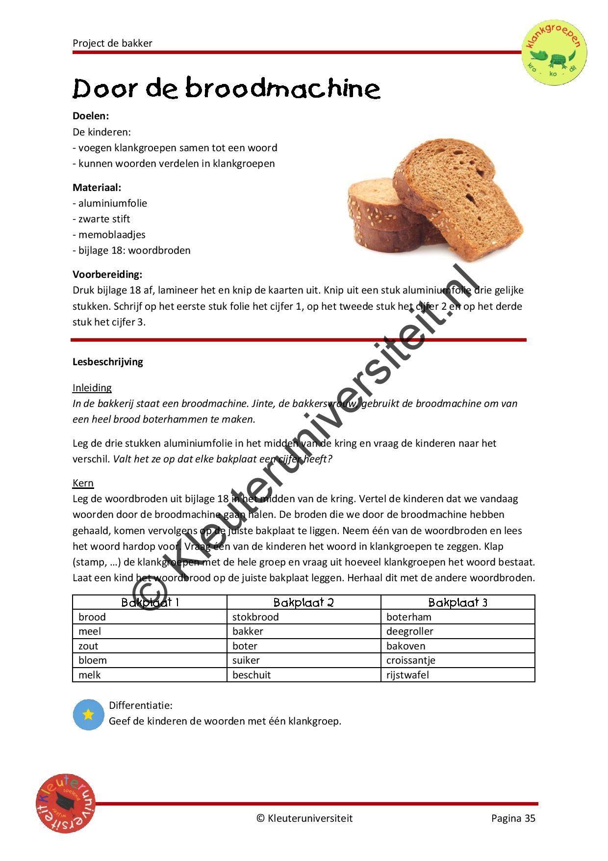 De Bakker Broodmachine Projecten Een Woord