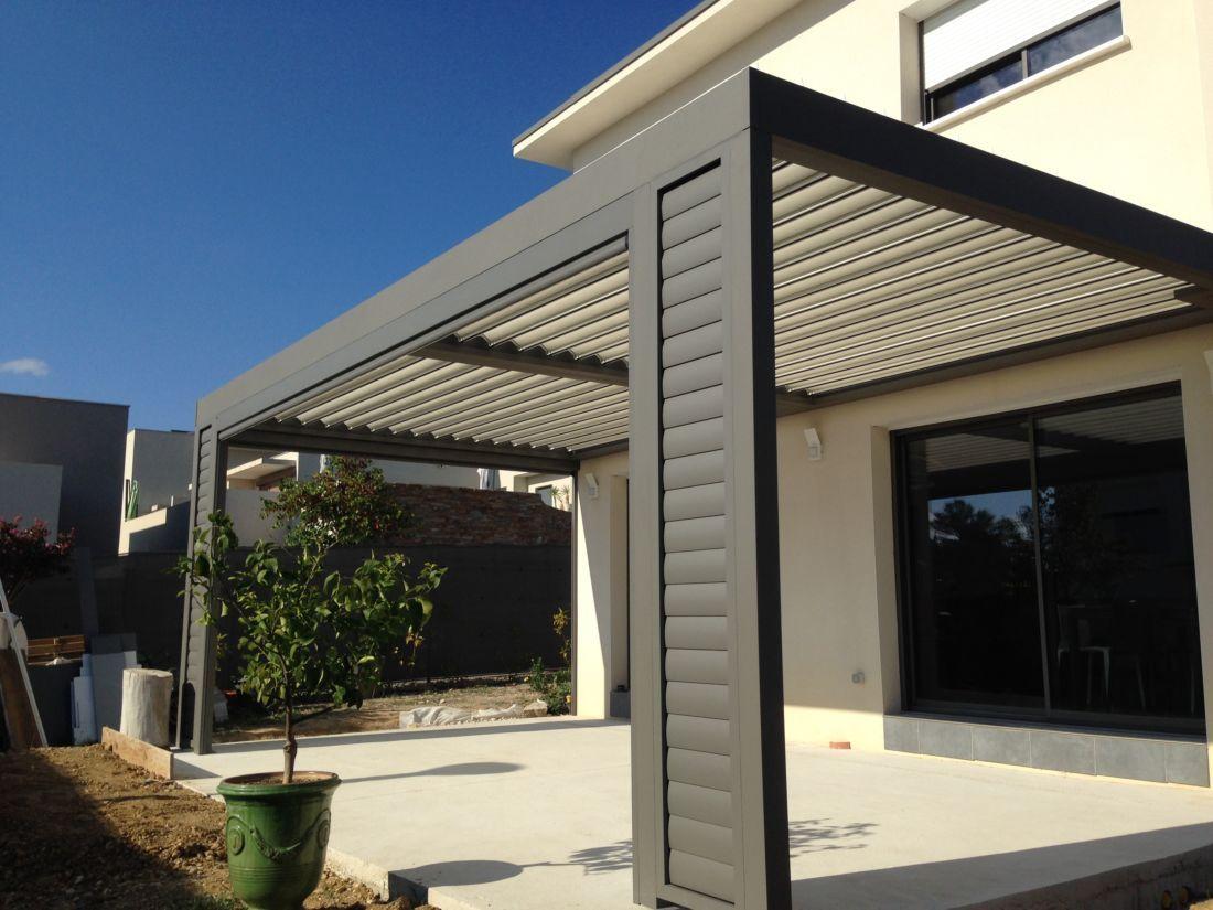 Castelnau Le Lez Atplus Aluminium Pergolas Jardin Terrasse Concepteur Pergola Bioclimatique Pergola Aluminium Patio Pergola