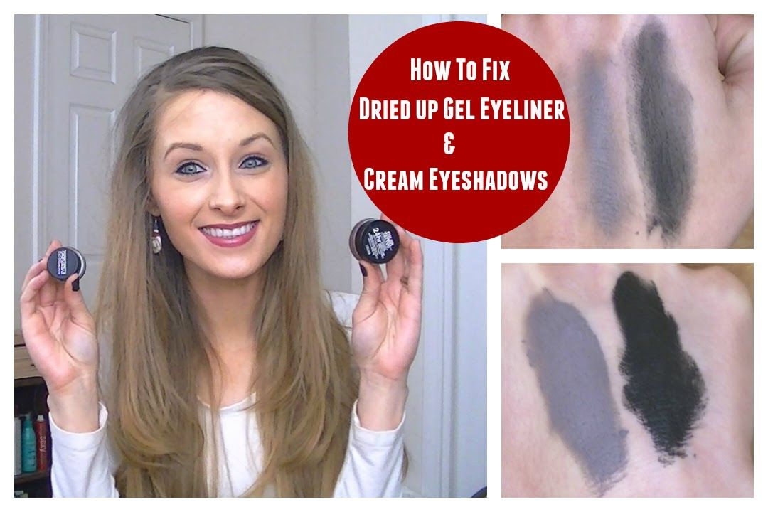 how to fix dried gel eyeliner