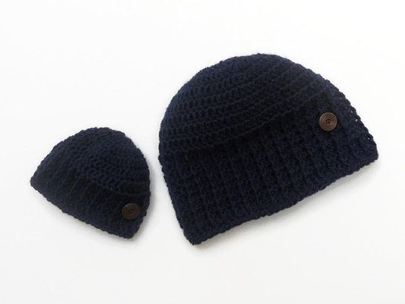Matching mom and baby hats-Navy Burgundy bow hat-mama and me hat ... 8783755db4b