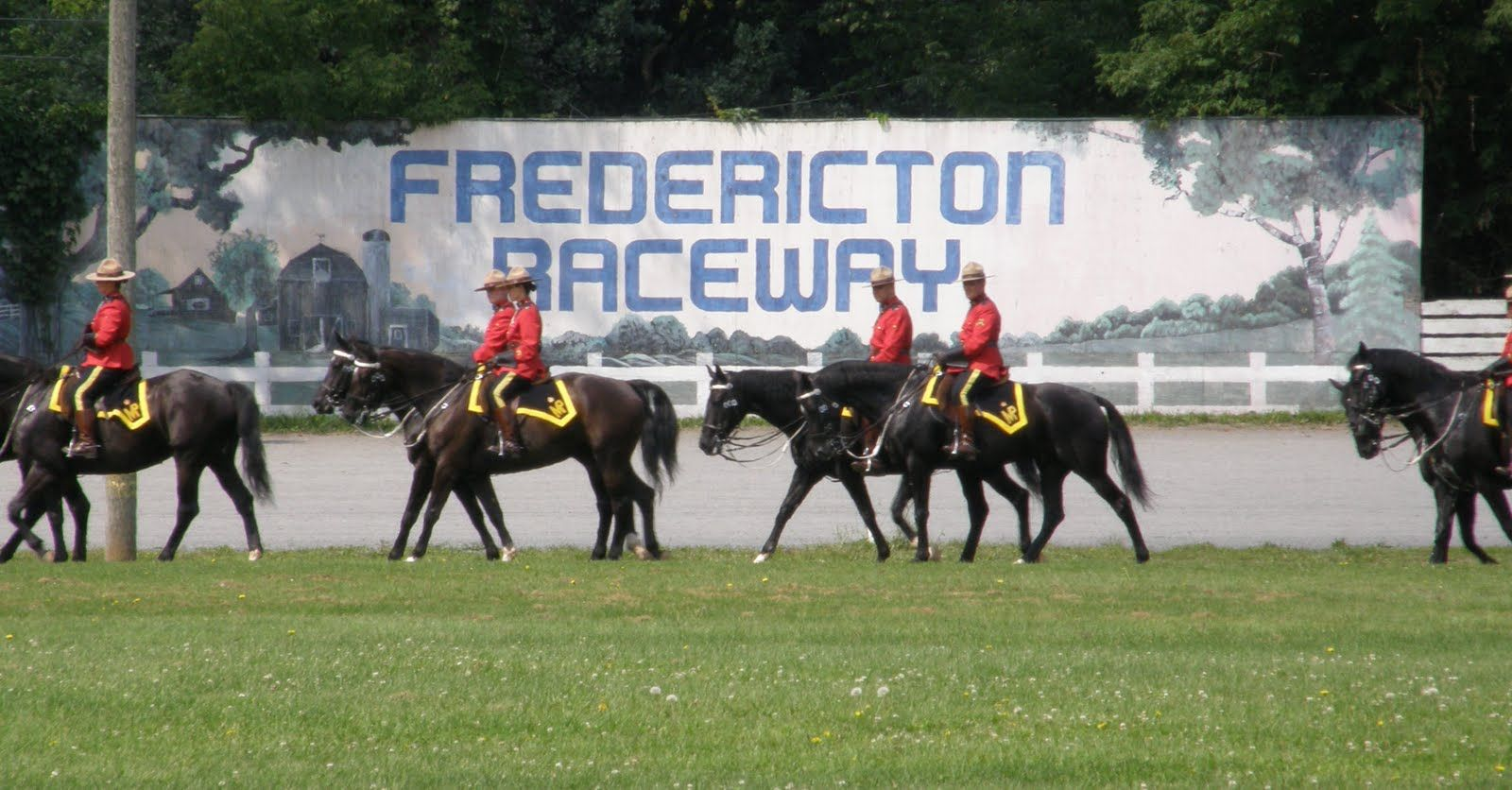 RCMP Musical Ride at the Fredericton Raceway {New Brunswick, Canada}