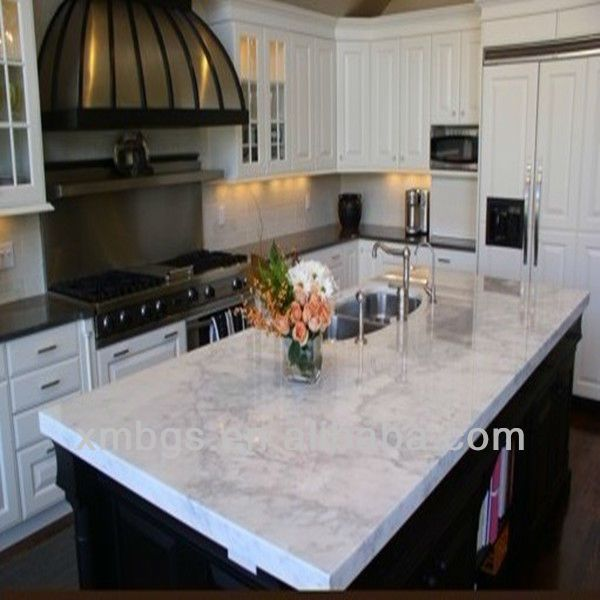 Marble Island Countertop | View Product Details: White Marble Prefab Island  Kitchen Countertops