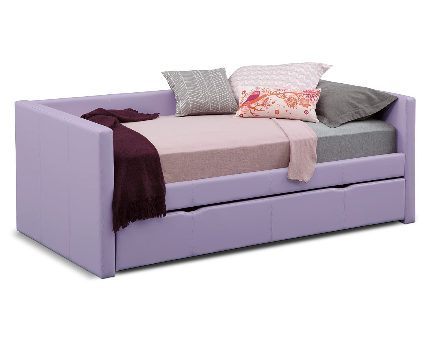 Daybed with pop up trundle ikea the carey purple collection  home decor  pinterest  mattress