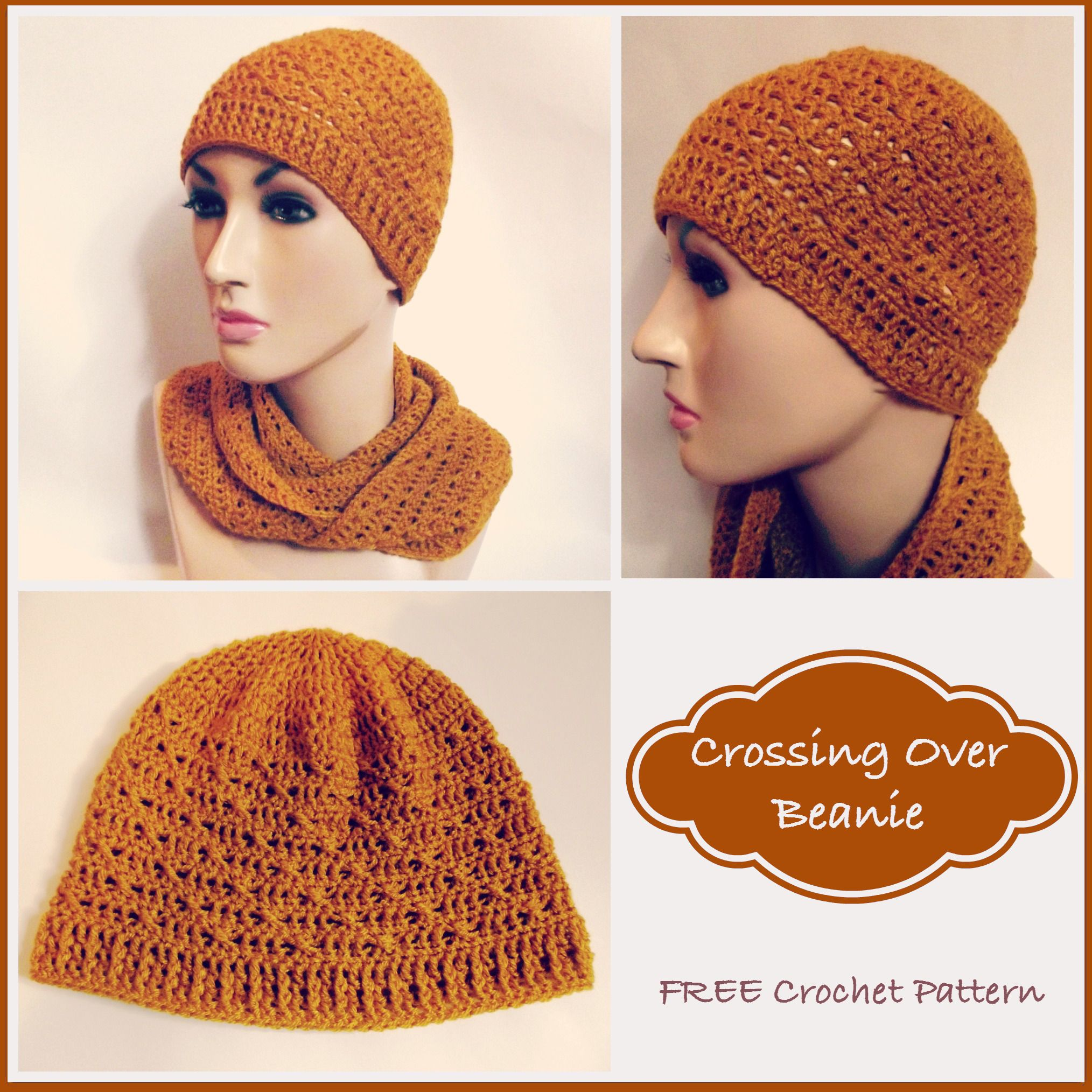 Crossing Over Beanie ~ FREE Crochet Pattern | Recipes to Cook ...