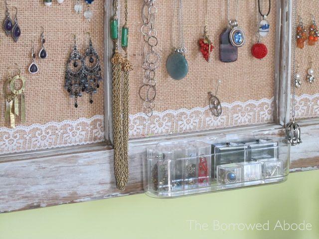 Window Frame Jewelry Storage u0026 Display & Window Frame Jewelry Storage u0026 Display | Organize | Pinterest ...