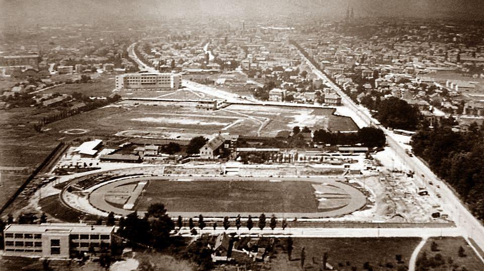 Zagreb 1920 Tih Maksimir Stadion Pogled Prema Zapadu