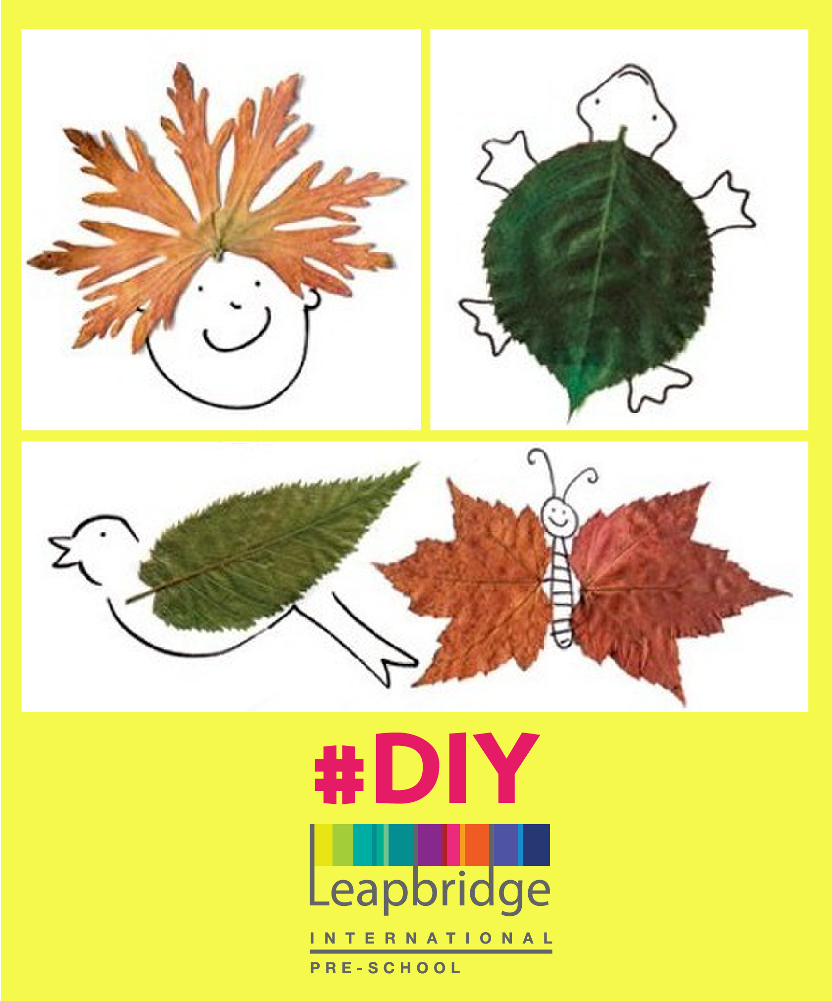 Have you seen a more creative use of leaves check out this do it have you seen a more creative use of leaves check out this do it yourself art and craft project how many parents want to try this with their kids solutioingenieria Choice Image
