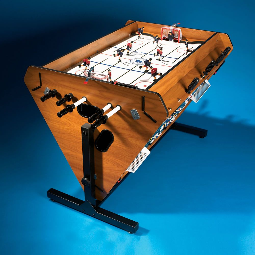 Charmant What Bachelor Pad Would Be Complete Without This A Foosball Table? How  About A Four In One Rotating Game Table, Including Hockey, Foosball,  Billiards, And
