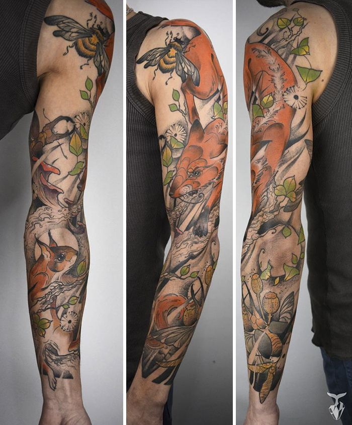 I Create Nature And Art Nouveau Inspired Tattoos Nouveau Tattoo Art Nouveau Tattoo Art Tattoo