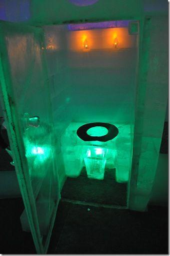 The Chena Hot Springs Ice Hotel Commode Non Functioning Near Fairbanks Alaska
