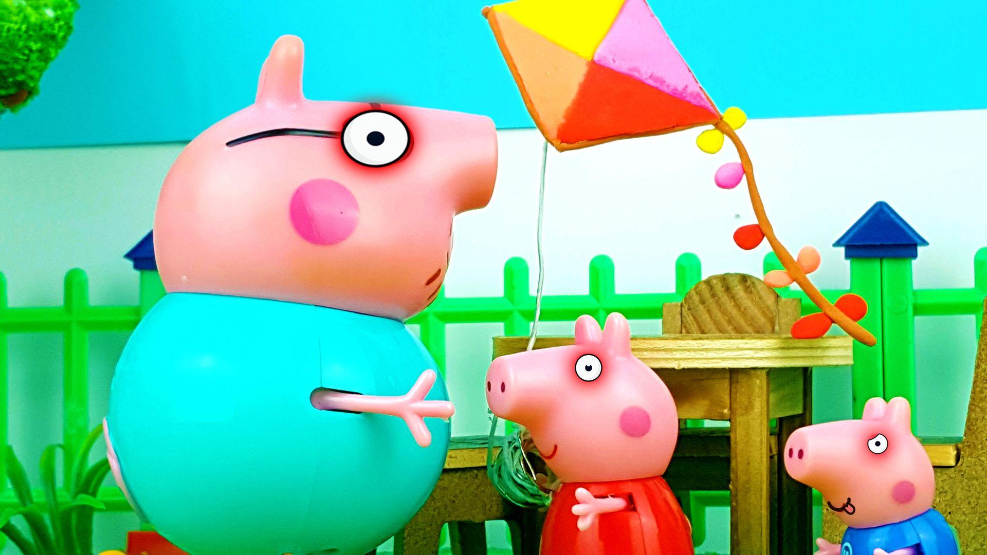 Play fly a kite - Cartoon for Kids - Peppa Pig English