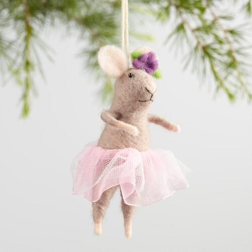 One of my favorite discoveries at WorldMarket.com: Felt Ballerina Mouse Ornaments Set of 3