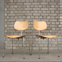 2er Set Stühle Se 68 Su Egon Eiermann Wilde Spieth Conni Kern