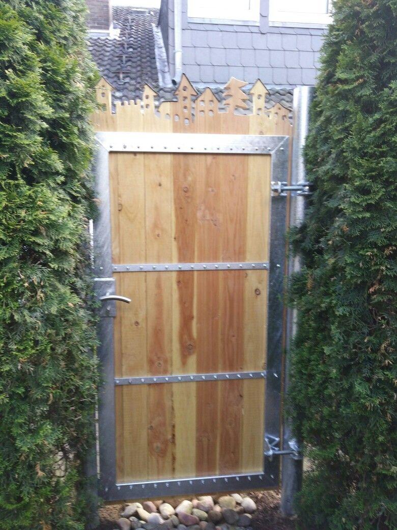Gartentor Gartenpforte Verzinkt Holz Dekorativ Metall