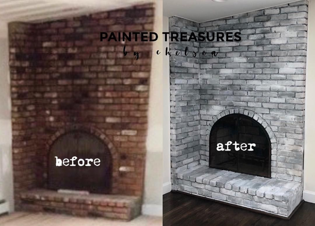 Grey Whitewash Fireplace Painted Treasures By Chelsea