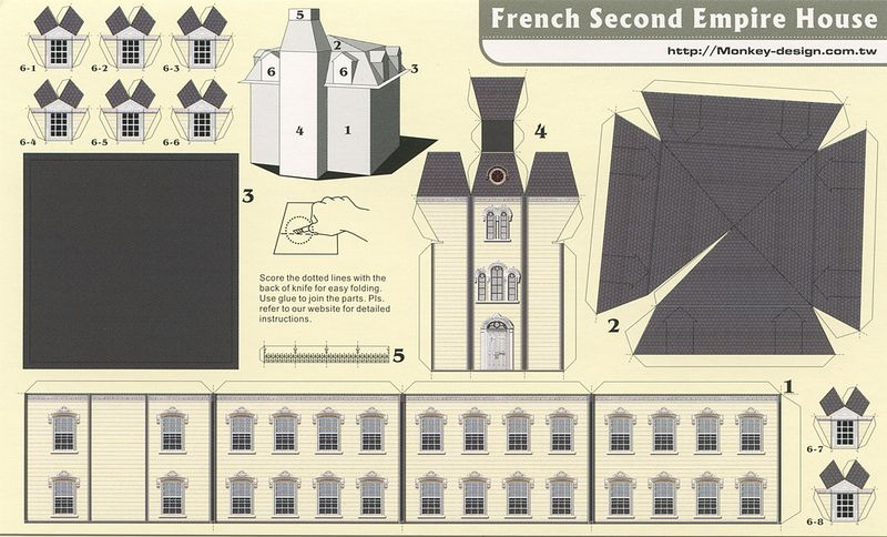 Frech Second Empire House - Cut Out Postcard | by Shook Photos