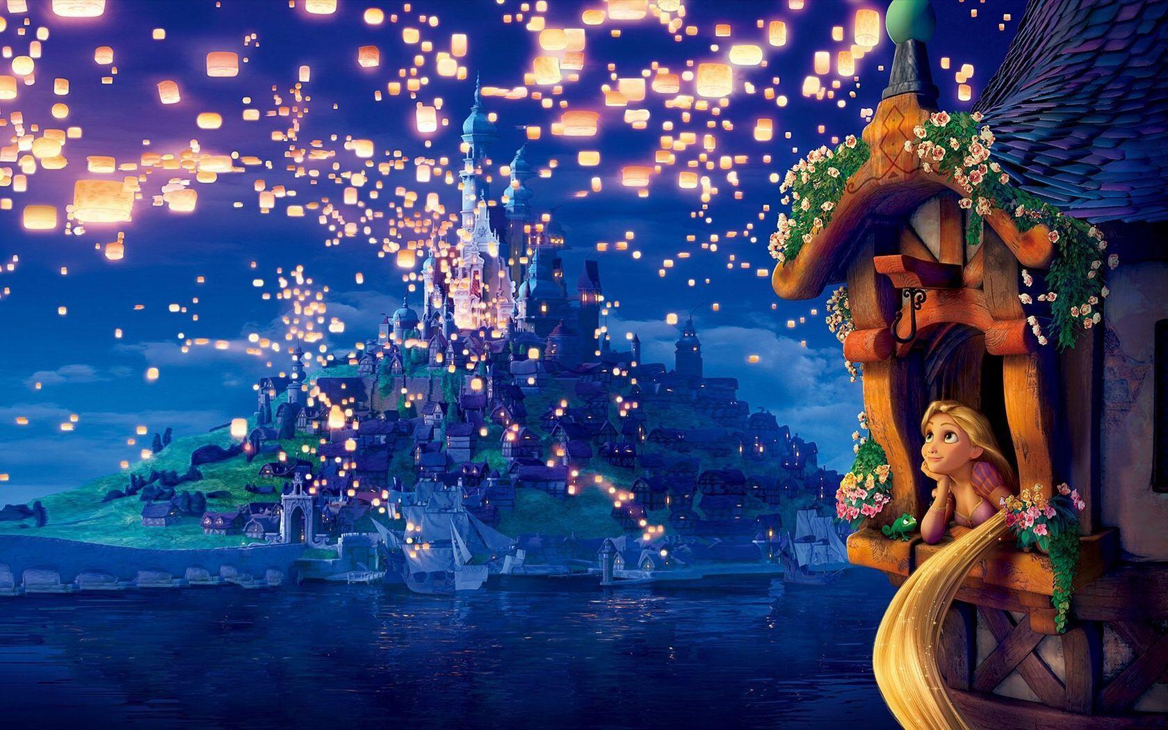 rapunzel lantern scene Google Search Tangled wallpaper