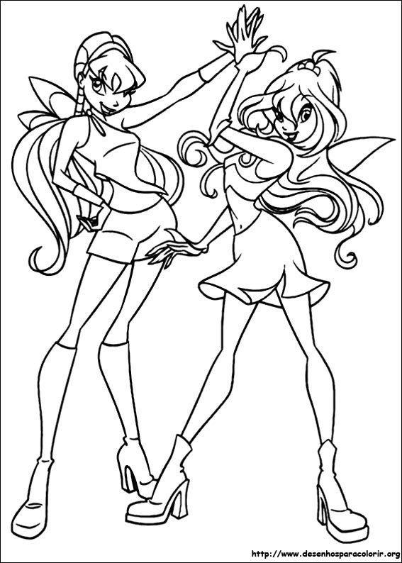 Winx Club Para Colorir Com Imagens Desenhos Para Colorir