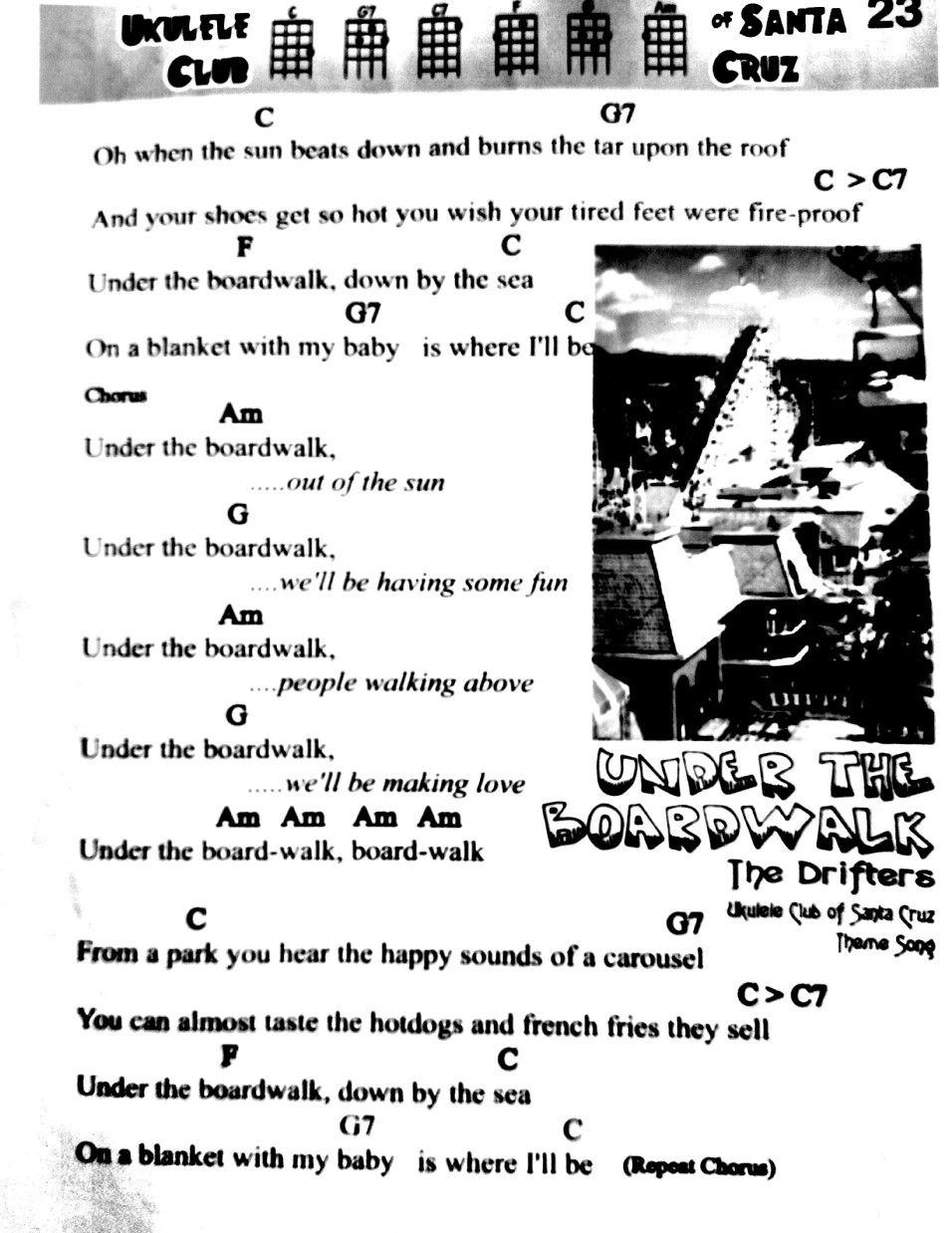 Guitar Chords For Under The Boardwalk Image Collections Basic