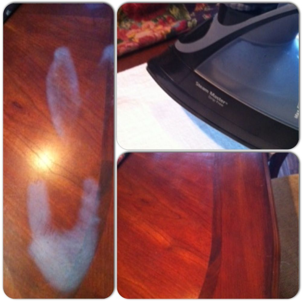 Know How To Remove White Burn Marks From Wood Furniture Ok I Ironed On My Dining Table The Heat Went Right Thr Wood Repair Wood Furniture Cherry Wood Floors