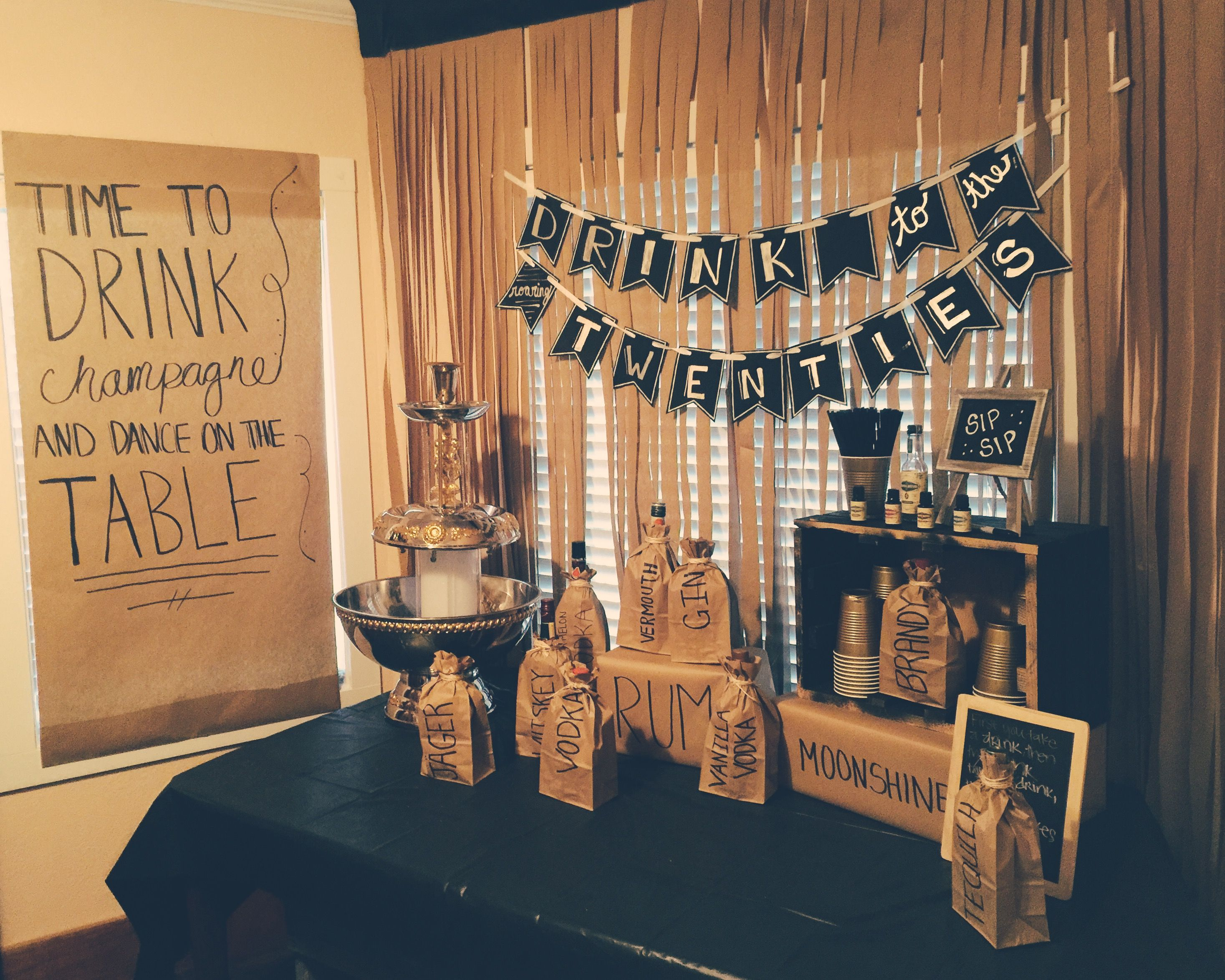 Decor For Our Goodbye Roaring 20s Birthday Party We Threw Friends 1920s