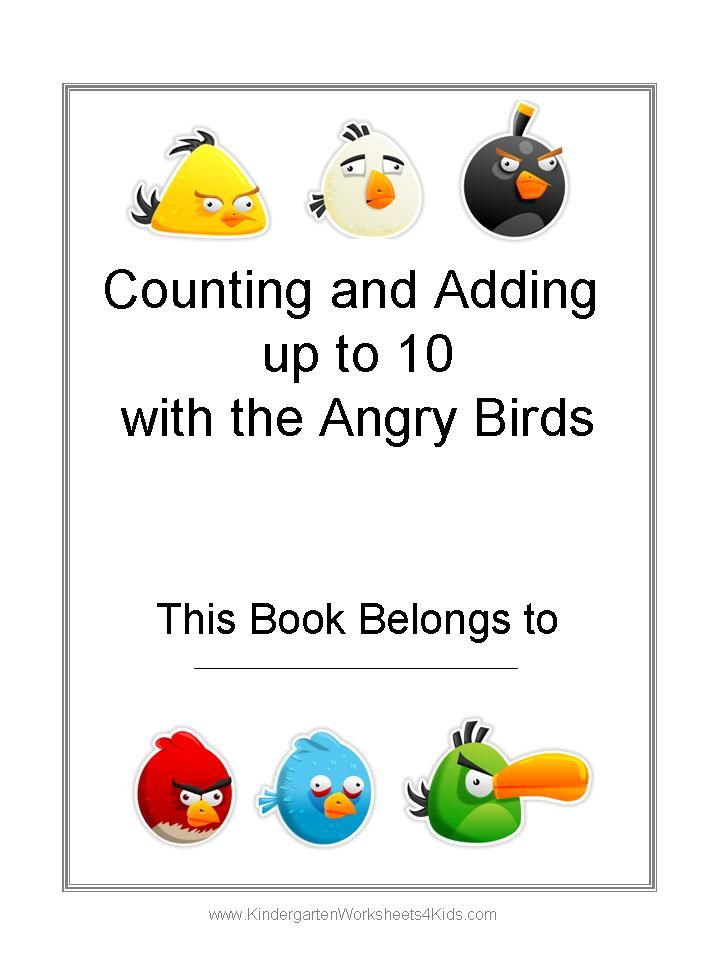Angry Birds kindergarten worksheets – Fun Math Worksheets for Kindergarten