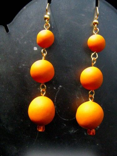 Long dangle earrings in the hot new color from Wyvern Designs