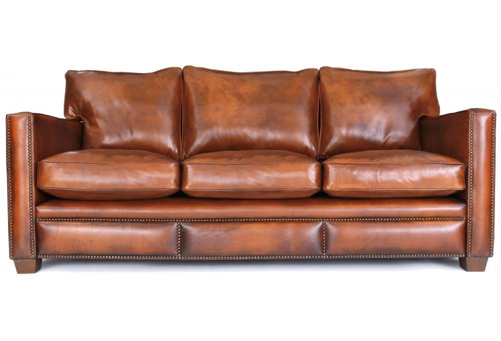 Spitalfield Original Leather Large 4 Seater Sofa From Old Boot Sofas