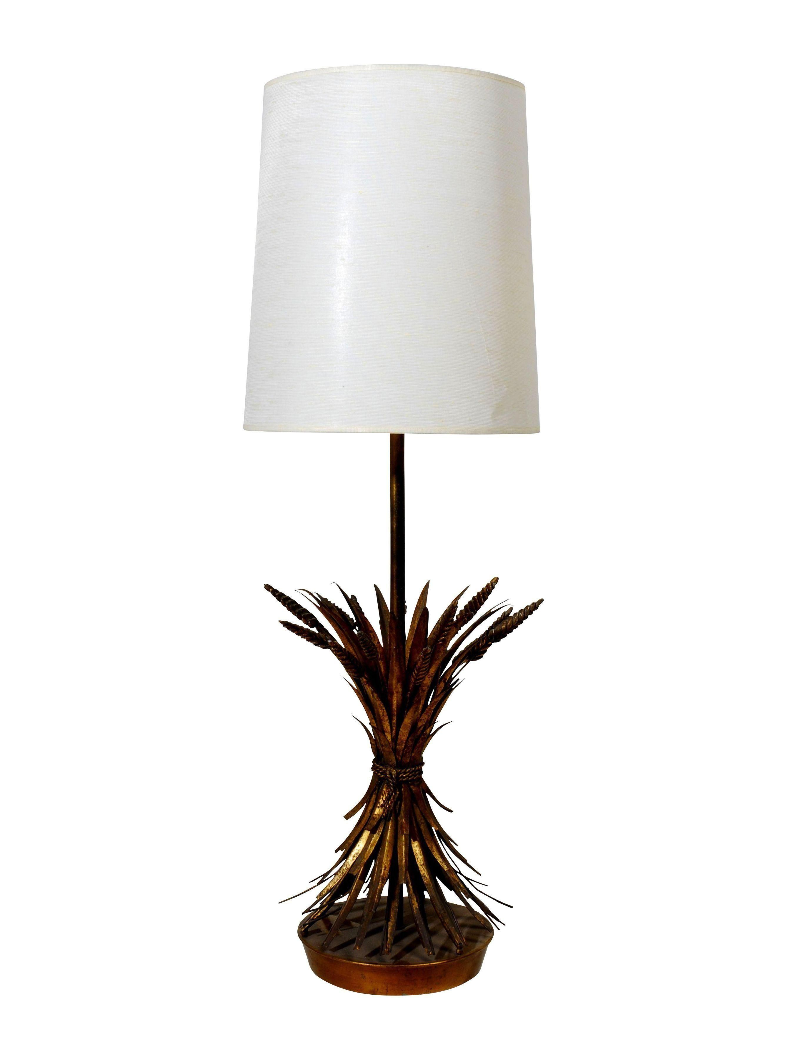 Gold Gilt Marbro Sheaf Of Wheat Lamp Lamp Lamp Light Table Lamp
