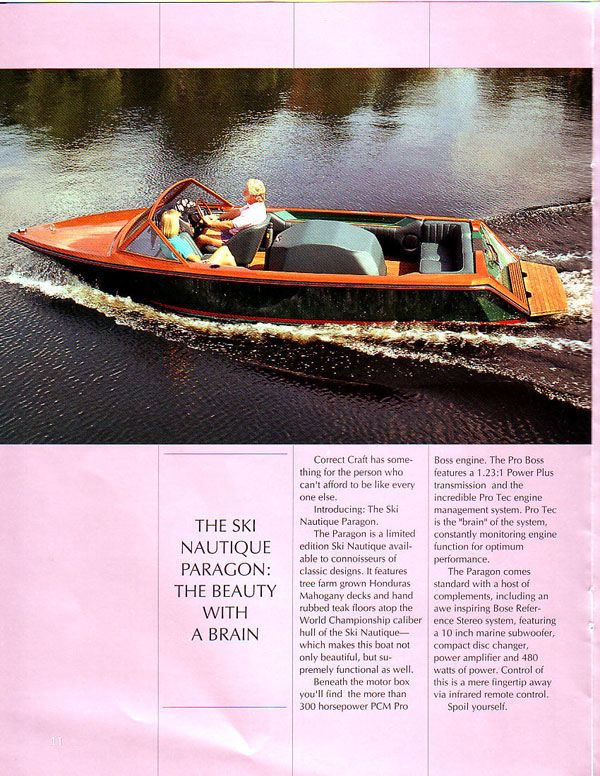 1993 Ski Nautique Paragon (With images) Classic boats
