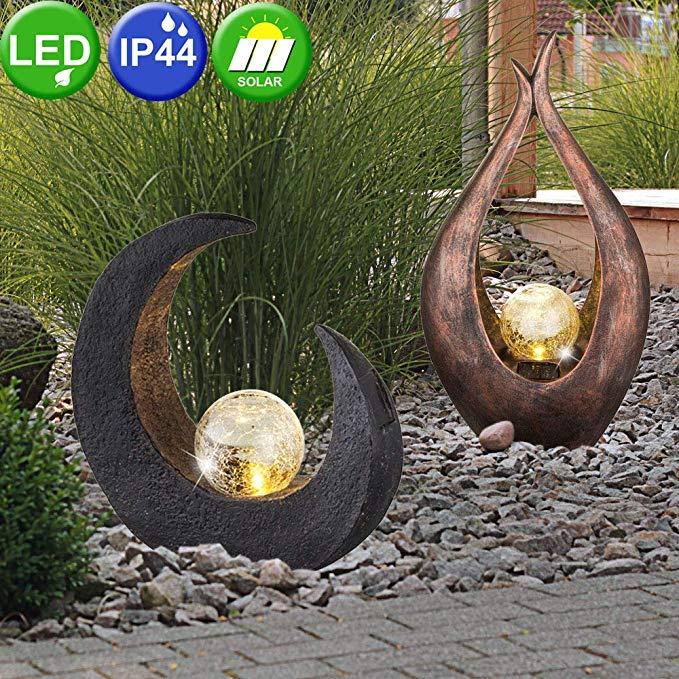 LED Solar Aussen Wege Lampen schwarz Terrassen Leuchte Balkon Garten Beleuchtung