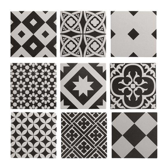 Mon Shopping Deco Avec Images Carreaux De Ciment Noir Et Blanc