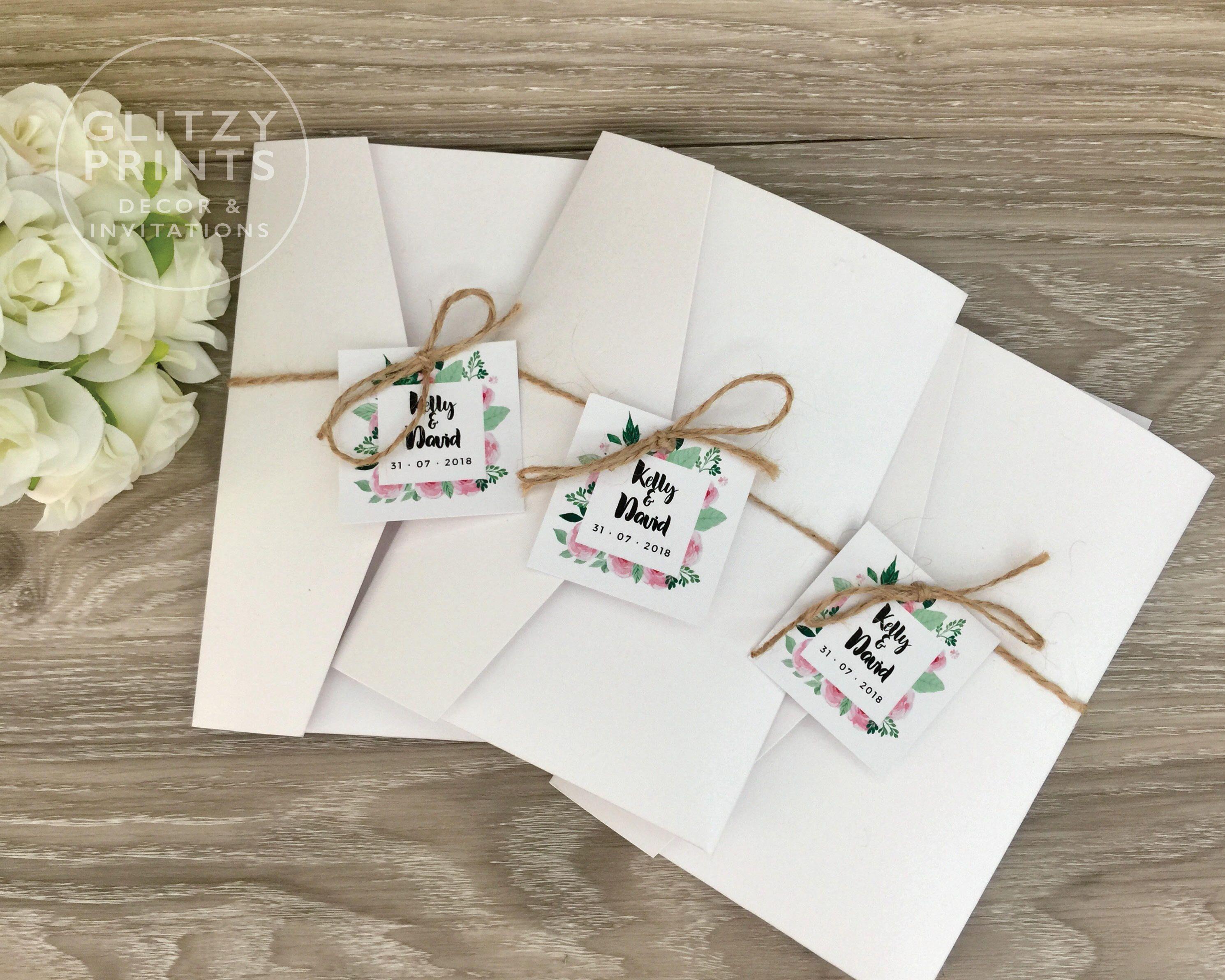 Rustic Wedding Invitation, Boho Floral Wedding Invitation Sample ...