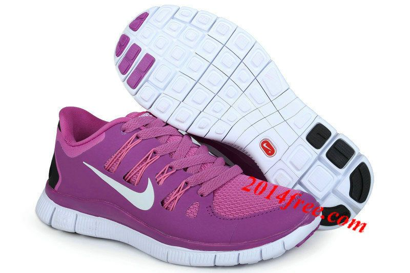 reputable site af866 91b8a Womens  Nike  Free 5.0 Purple White Shoes