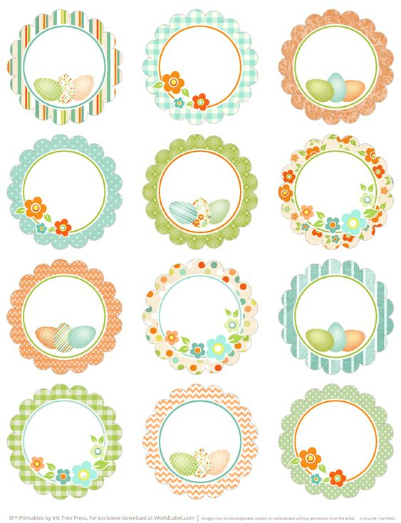 Round easter labels free printables on blog worldlabel