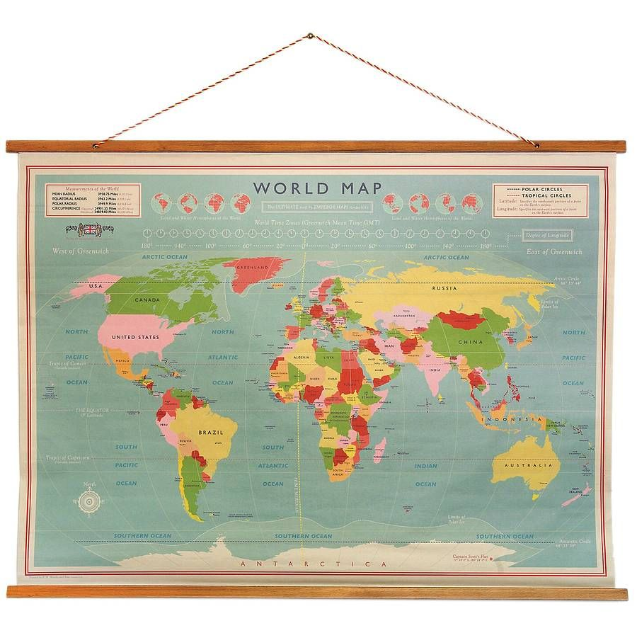 Pick of the week old school map kids room decor ideas gorgeous old school map for our kitchen walls a great way to teach kids geography and stylish and simple too gumiabroncs Gallery