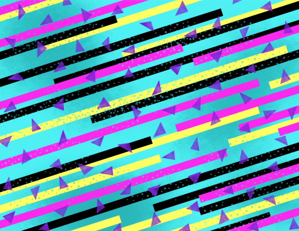 pattern   graphic stripes + triangles by Naty Lara