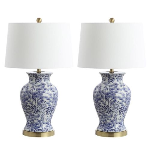 Safavieh Alona Table Lamp Blue White In 2021 Table Lamp Sets Lamp Sets Lamp